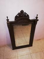 Antik faragott fali tükör