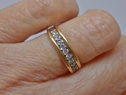Szépséges antik 0,4ct brill aranygyűrű