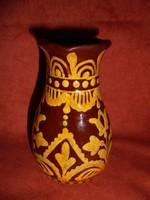HMV Majolikatelep jelzett kerámia váza