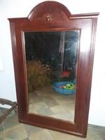 Antik, gigászi nagy, ónémet, magyar tükör, a dédié volt, óriási!!! 183x114 cm, 30-40 kiló körül van!