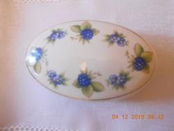 Hollóházi porcelán bonbonier, szeder mintás