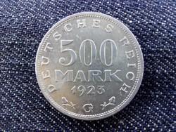 Weimari Köztársaság ritkább 500 Márka 1923 G
