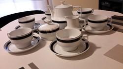 Régi hollóházi 6 sz. teás készlet