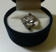 Régi markazit köves ezüst gyűrű