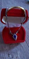 Csodás ezüst zománcos nyaklánc 925-ös