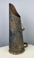 Fémlemez antik szénöntő, szénhordó