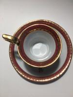 Német porcelán csésze aljával