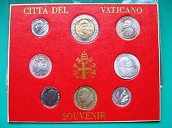 VATIKÁNI Szuvenir - CITTA DEL VATICANO - Souvenir -8 db-os album- 1-5-10-20-50-100-100-500 ₤