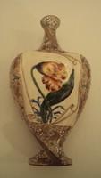 Antik FISCHER---CUBASH mintás díszváza, 1901-ből.---/Fischer Vilmos (1839-1921) Kolozsvári gyárából/