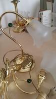 Gyönyörű asztali lámpa és falikarok új állapotban