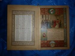 antik kalendárium naptár 1910