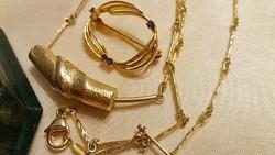 Moser+Pfeil Pforzheim zafírral arany és ezüst 925 MP szett