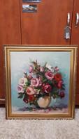 Czinege Zsolt: Rózsák: 64x70cm, aranyozott kerettel!