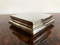 Design - Art Deco Ezüst Ékszer vagy Kártya tartó Doboz -