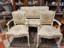 Roppant elegáns olasz barokk szalon ülőgarnitúra