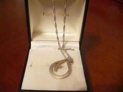 Antik ezüst lánc medállal