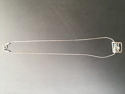 Izraeli ezüst nyaklánc, nyakék tűzopállal