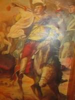 Kuruc kürtös lovon - olaj vászon festmény