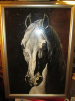 Lóportré olaj festmény