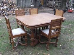 Bővíthető asztal 5db székkel étkező garnitúra