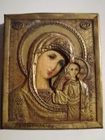 Orosz ikon réz keretben