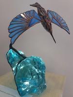 Jégmadár Ólomüveg szobor