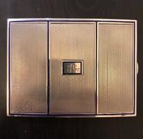 Tűzzománc díszítésű ezüst cigarettatárca (dózni)