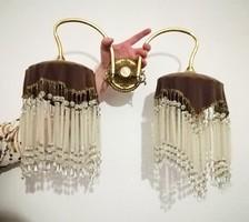 Különleges kristály két ágú fali lámpa súlyos dara