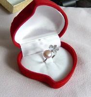 Tenyésztett igazgyöngy gyűrű, halvány lila .8 USA méret