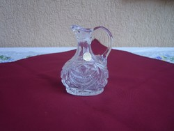 Ólomkristály üveg kancsó 13cm