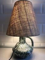 Retro asztali lámpa kerámai talppal,  jelzett