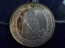 Báthory Gábor tallérja - Magyar tallérok utánveretben ezüst - Érem Művészeti Intézet