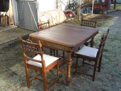 Ónémet asztal szék négy darab étkező garnitúra