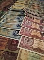 Magyar+külföldi pénz lot. Forint /Pengő /Korona. A külföldiben van pár UNC,a többi változó tartás!