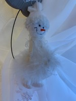 Tündéri hóember, karácsonyi dísz