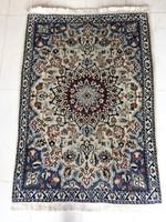 Iráni Nain selyemkontúros kézi csomózású szőnyeg