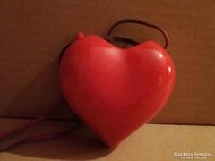 Drashe szív, nyitott üreges, bőrszíjas, fali