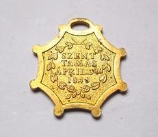 Az 1849-es szenttamási csata emlékére készült érem másolata.