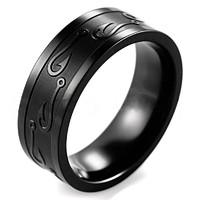 Fekete titánium férfi gyűrű