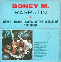 A Boney M. együttes Rasputyin c. dedikált kislemeze eladó