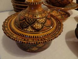 Maroccoi kerámia étkészlet.