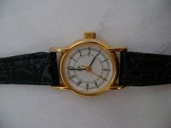 Mechanikus vastagon aranyozott japán női óra nem használt kiváló ajándéknak is