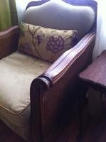 Felújított barokk fotel párban,  gyönyörű chippendale