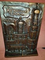Nagy orosz plakett, ill.asztali dombormű