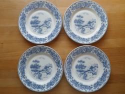 4 db francia süteményes porcelán tányér 18,8 cm (újabb)