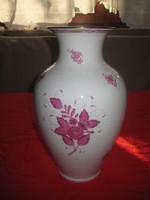 Gyönyörű nagyméretű Apponyi mintás   Herendi Váza  , hibátlan átm. 20 x32 cm