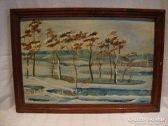 Keleti L. tájkép festmény