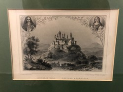 Hunfalvy-Rhobock: Magyarország és Erdély Eredeti Képekben 1856-1864 6 db eredeti Acélmetszet