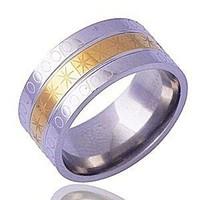 Gold filled kéttónusú férfi karikagyűrű