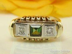 ANTIK 14K arany gyűrű 0.45 karátos gyémánt G -VSI